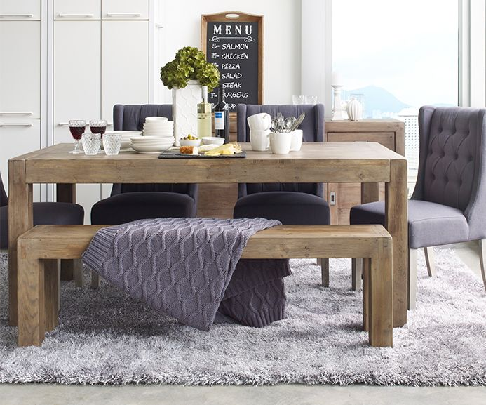 Post And Rail Dining Table