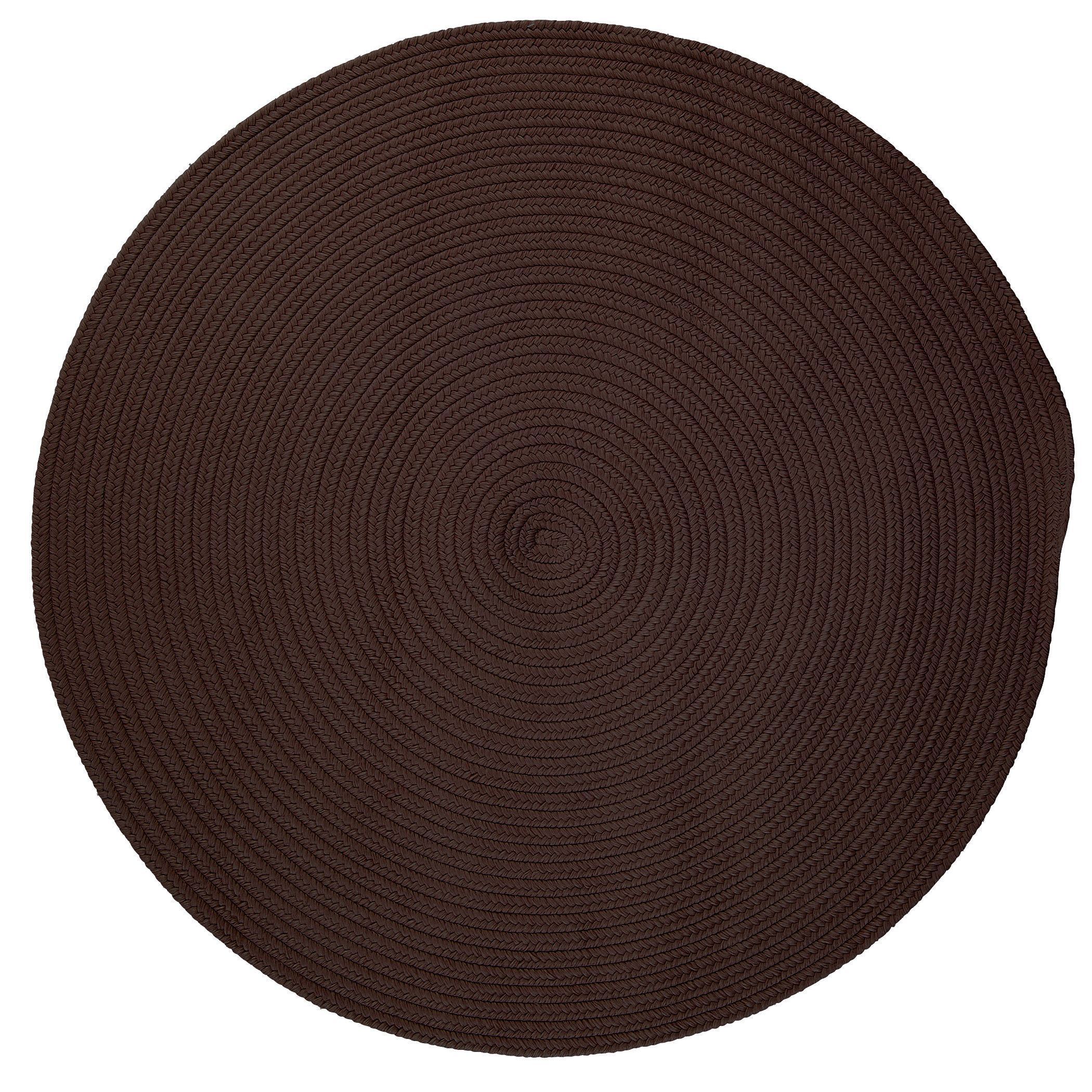 Colonial Mills Anywhere Round Reversible Textured Area Rug (12' x 12') (Anywhere Oval Mink 12'x12' Round), Brown (Plastic, Solid)