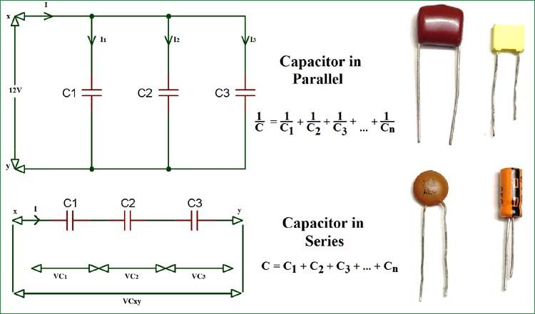 Capacitor Circuits Capacitor In Series Parallel Ac Circuits Capacitor Circuit Electronics Circuit