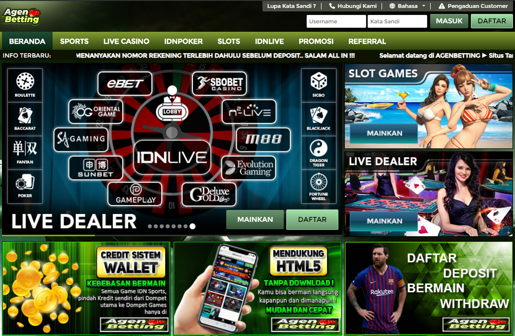 Pin En Agen Idnsport Idnlive Live Casino Bola Agenbetting