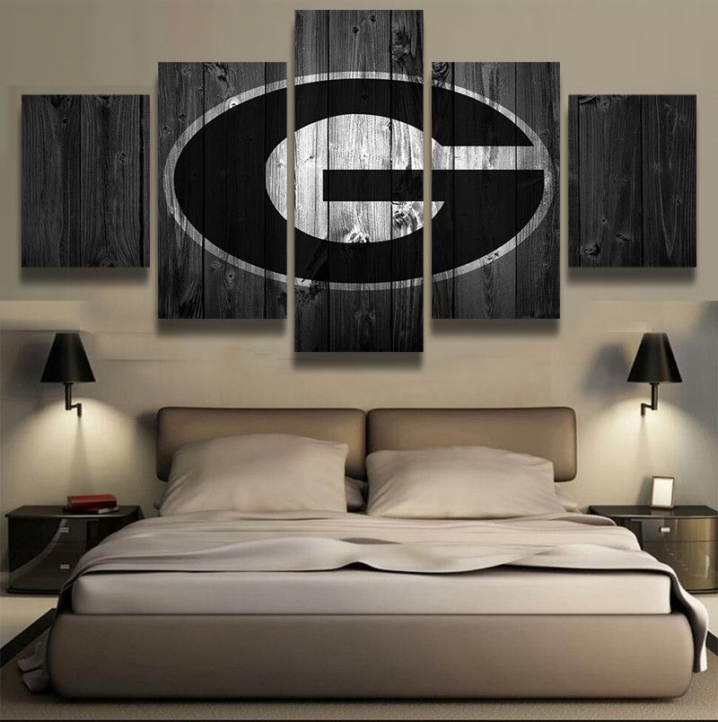 Georgia Bulldogs College Football Canvas Barn Wood Style