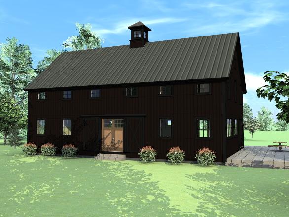 New barn house design and floor plans the suffolk barn for Farm barn plans