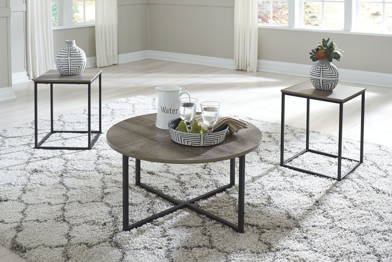 Ashley Wadeworth Two Tone Occasional Table Set 3 Cn Living Room Table Sets Coffee Table Living Room Table