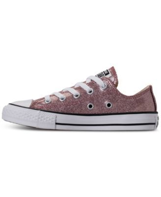 super popular 46551 f75b6 Converse Little Girls  Chuck Taylor All Star Ox Glitter Casual Sneakers  from Finish Line - Pink 1.5