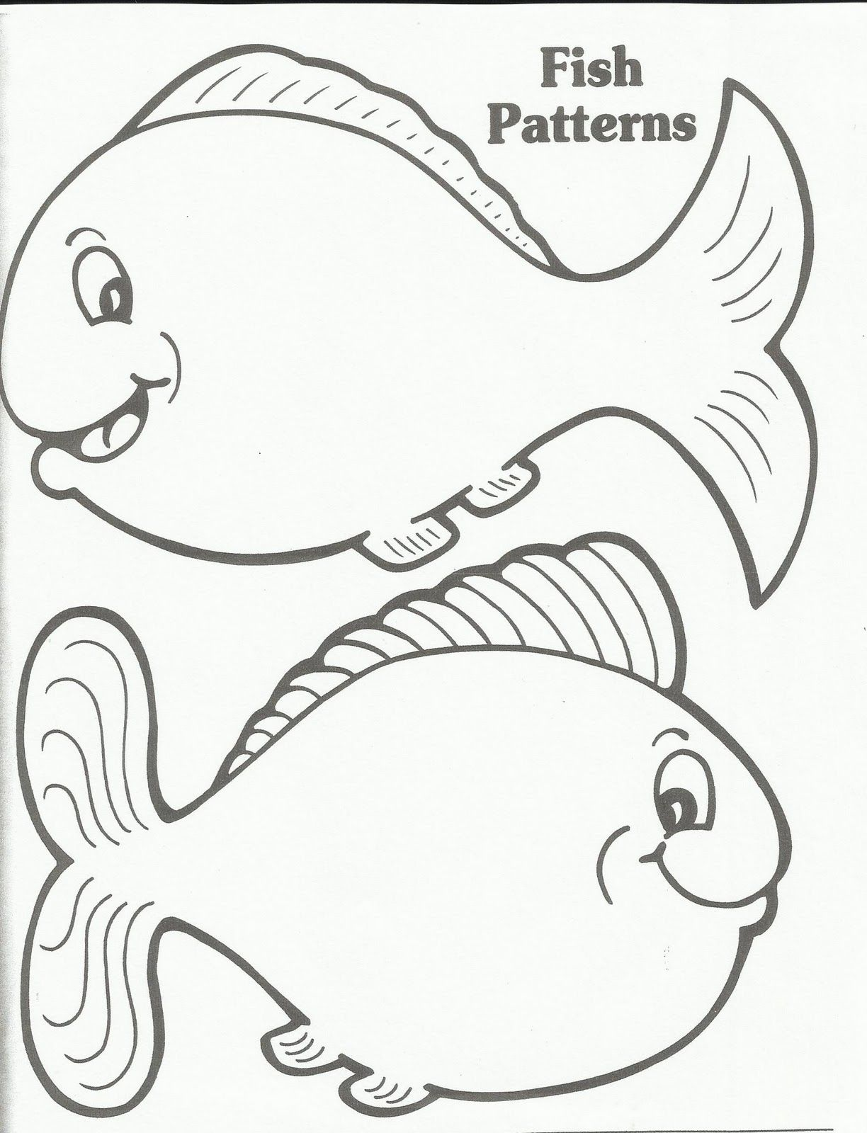 coloring pages for kids online fish template printable in plans free gallery coloring ideas - Fish Coloring Pictures 2