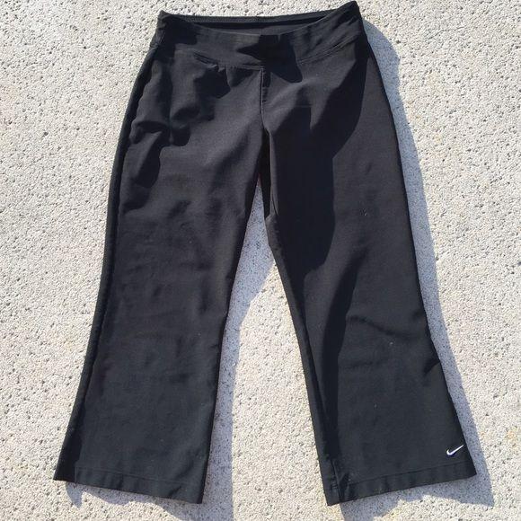 Nike Dri Fit Capri workout pants Black Dri Fit Capri workout pants. Excellent condition. 88% polyester 12% spandex. Nike Pants