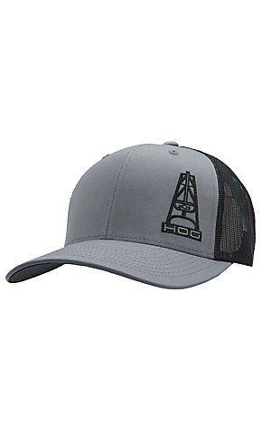 94ff6b2576bfc HOOey® Grey   Black Hog Logo Flex Fit Cap