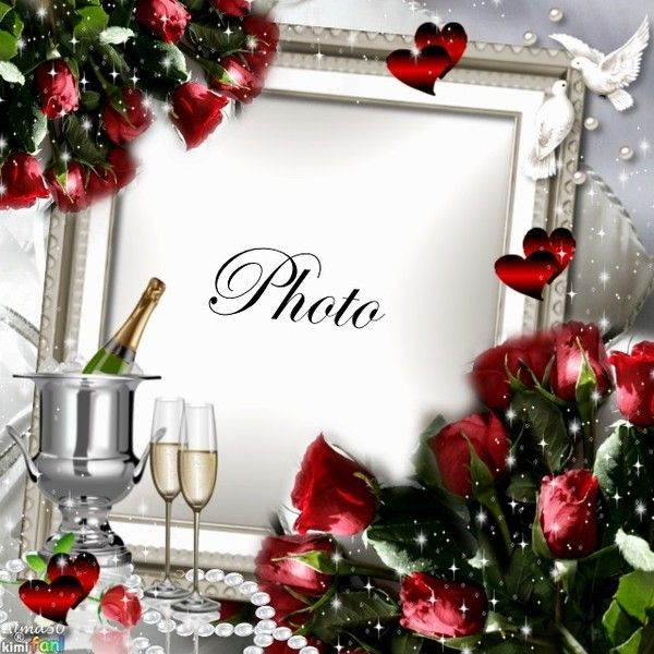Valentines frame - imikimi.com found on Polyvore featuring polyvore ...