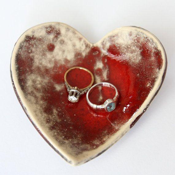 Ring Dish Home Decor handmade heart shape Ring Dish by light4you, $12.00