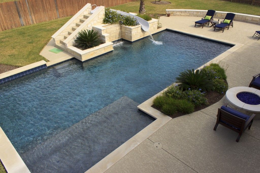 Residential Pool Designs Backyard Pool Designs Backyard Pool Landscaping Geometric Pool