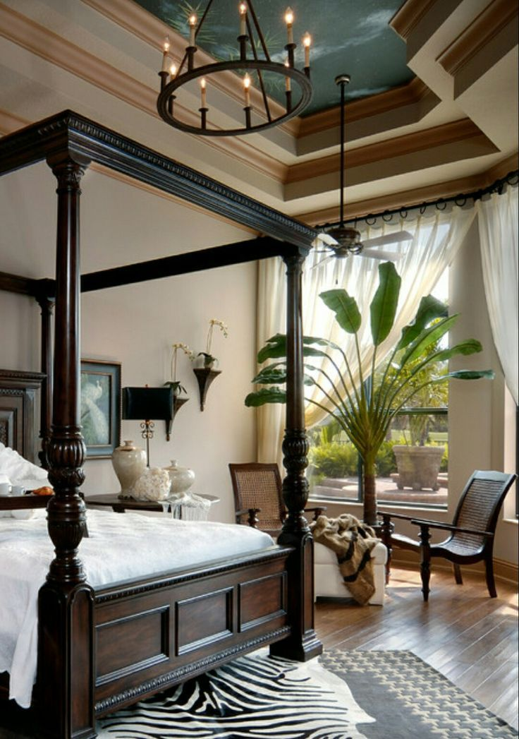Safari Bedroom Vibe With A Zebra Print Area Rug | For The Home | Pinterest