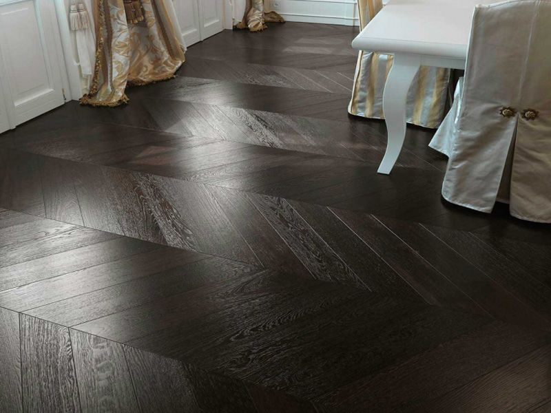 These Wenge Engineered Chevron Parquet Blocks Are From Renowned