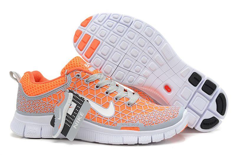 Nike Free 5.0 2013 Orange Et Blanc