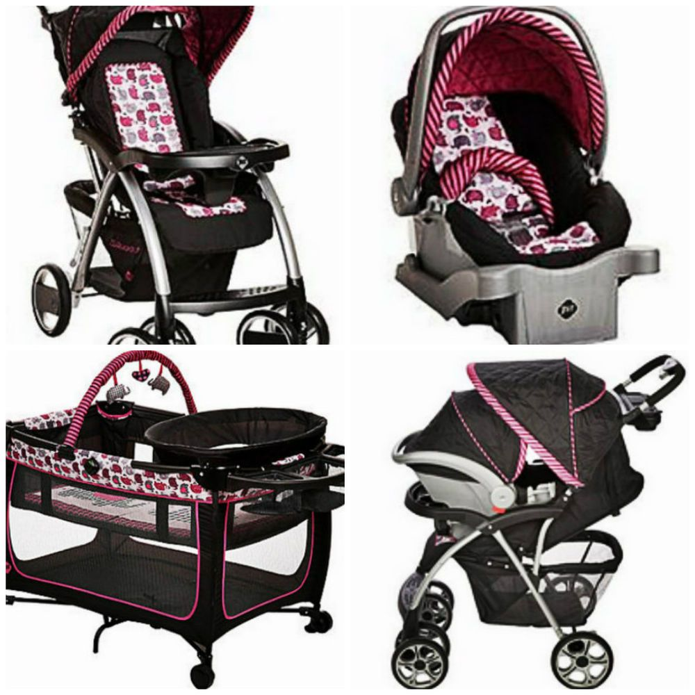 Baby Stroller Set Car Seat & Portable Playpen w/ Travel