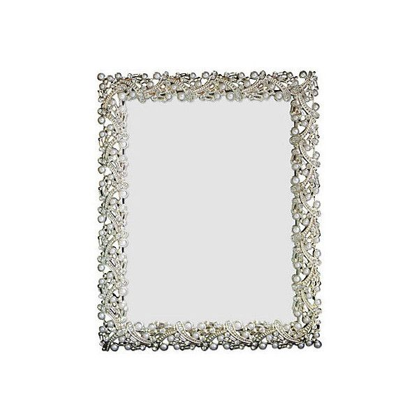 pearl u0026 silver jeweled frame 5x7 frames u20ac18 liked on polyvore featuring
