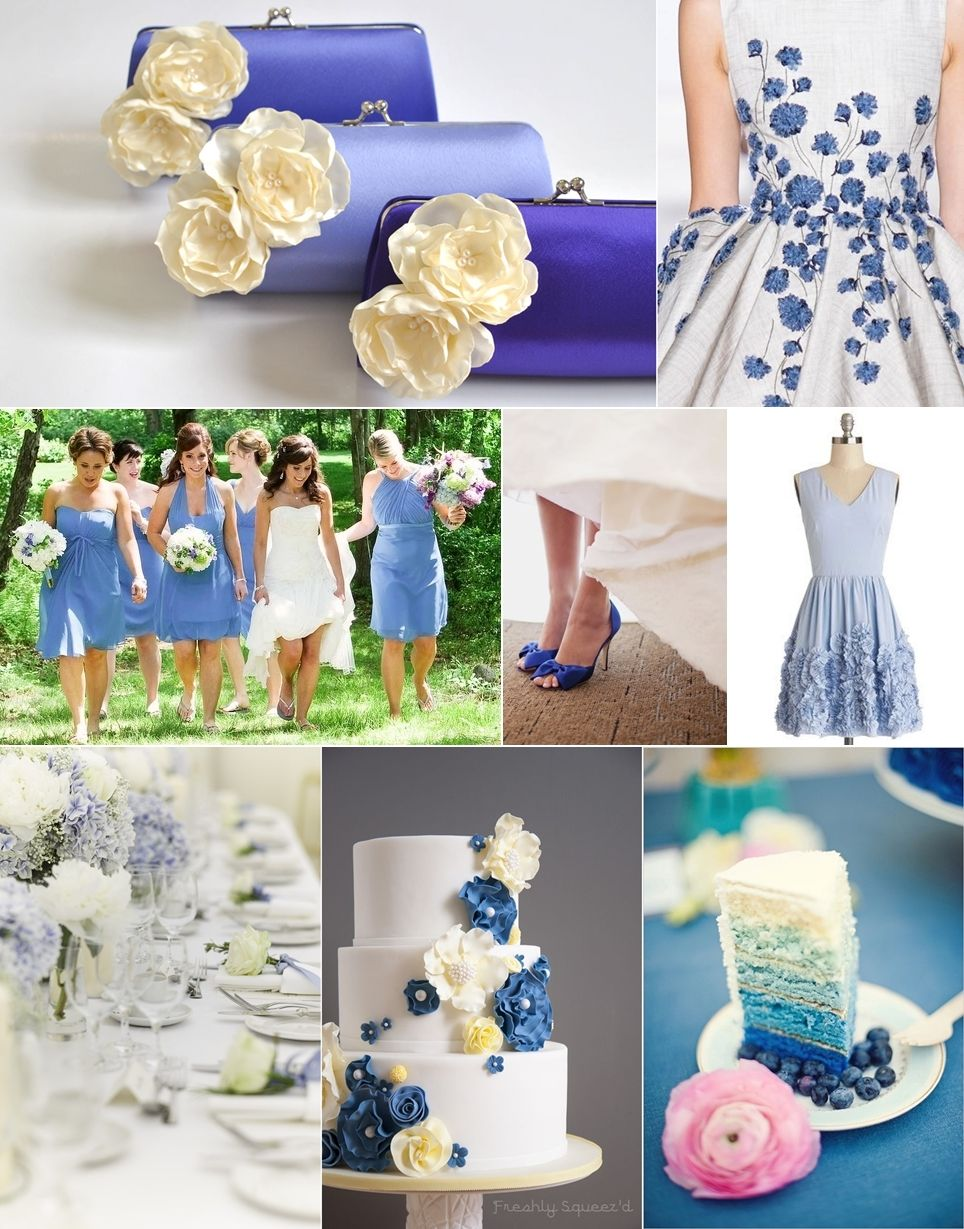 Shades Of Periwinkle Blue Wedding Theme