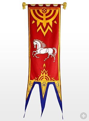 Lord Of The Rings Rohan Banner Red Medieval Banner Lord Of The Rings Banner