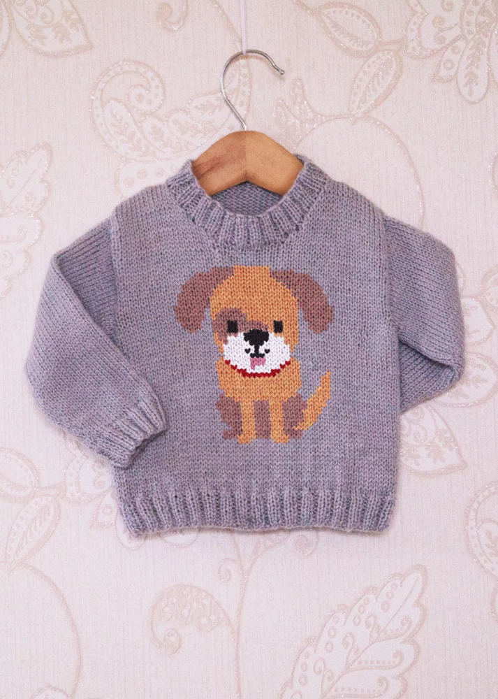 Intarsia - Doggy Chart Childrens Sweater Knitting pattern by Instarsia #children'ssweaters