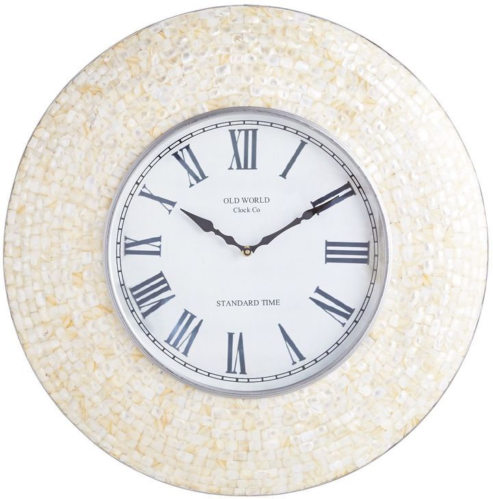 Pier 1 Imports Mother Of Pearl Wall Clock