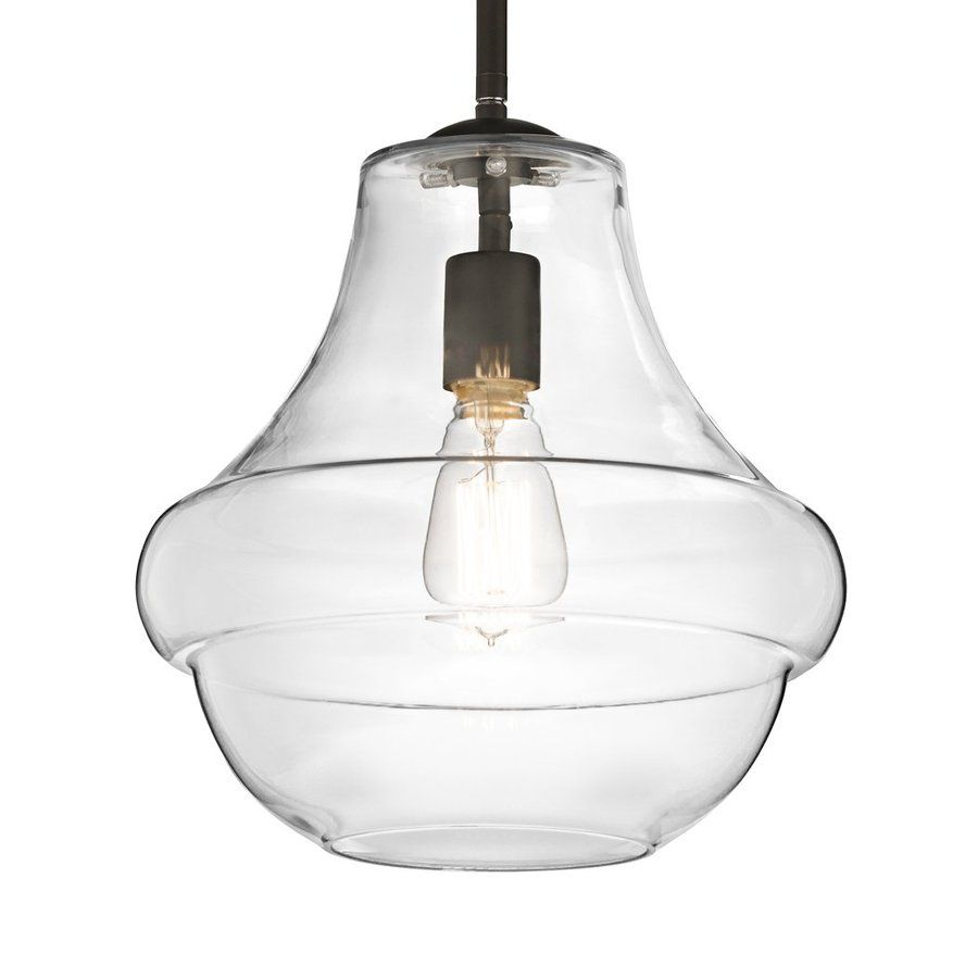 Kichler Lighting Everly 12-In Olde Bronze Vintage Hardwired Single Clear Glass Schoolhouse Pendant 42044Oz  sc 1 st  Pinterest & Kichler Lighting Everly 12-In Olde Bronze Vintage Hardwired Single ... azcodes.com