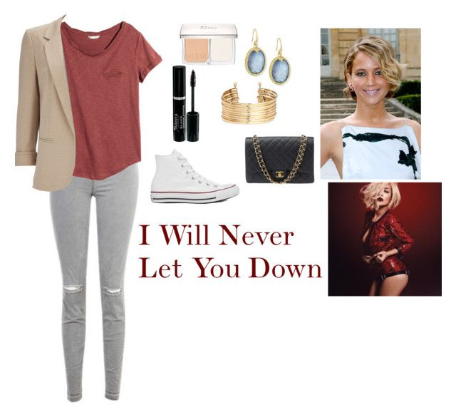 """""""I Will Never Let You Down"""" by charbear231 ❤ liked on Polyvore featuring Christian Dior, J Brand, H&M, Wallis, Converse, Chanel and Armenta"""