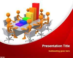 free business teamwork powerpoint template is a free slide design, Modern powerpoint