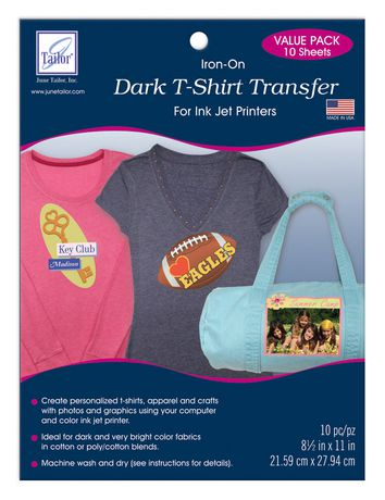 dark t-shirt transfer -- value pack available from walmart canada ...