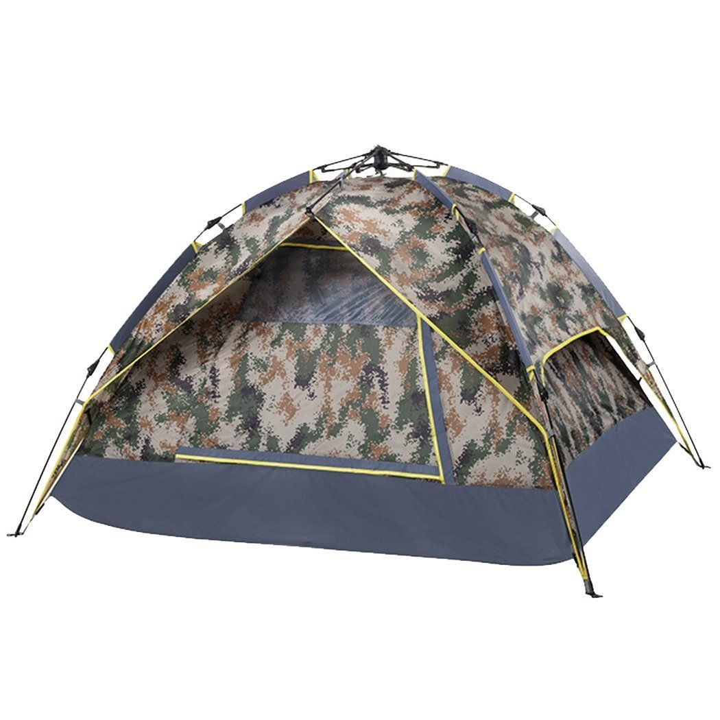 red dandelion 3 4 people lounger automatic camouflage tent to view