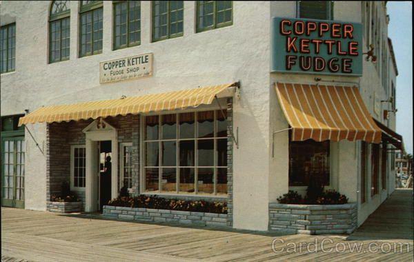 Vintage Ocnj Copper Kettle Fudge Best Fudge Ever Ocean City Nj Boardwalk Ocean City Nj Ocean City