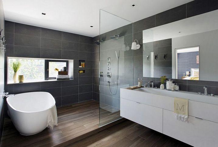 salle de bain grise - Recherche Google