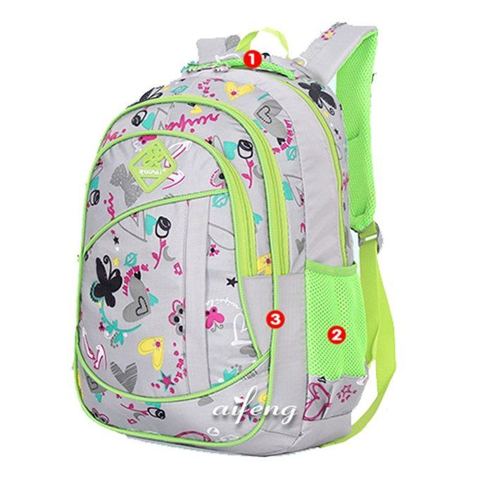 Amazon.com: Coofit Cute Colorful Backpacks for Girls School Bags ...