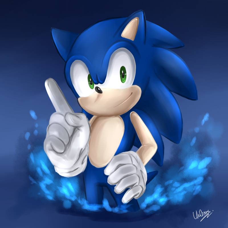 Heres Sonic I Think I Might Redo This One If I Get Any Ideas I Don T Think It Came Out Well Third Part Out Five For My W Sonic The Hedgehog