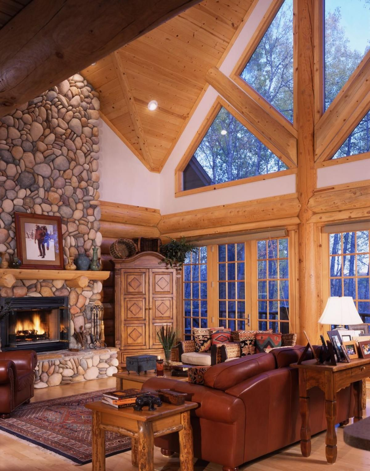 Log Home Interiors | Yellowstone Log Homes | Log cabin | Pinterest ...