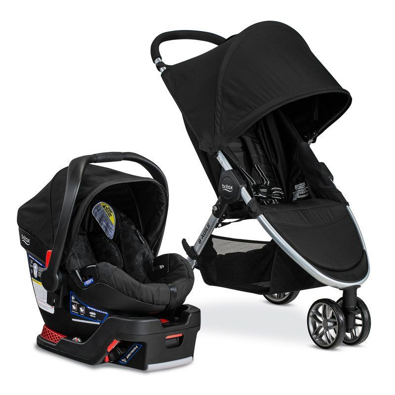 Britax 2016 B Agile B Safe 35 Travel System Black S04884300 Best Baby Travel System Car Seat Stroller Combo Travel Systems For Baby