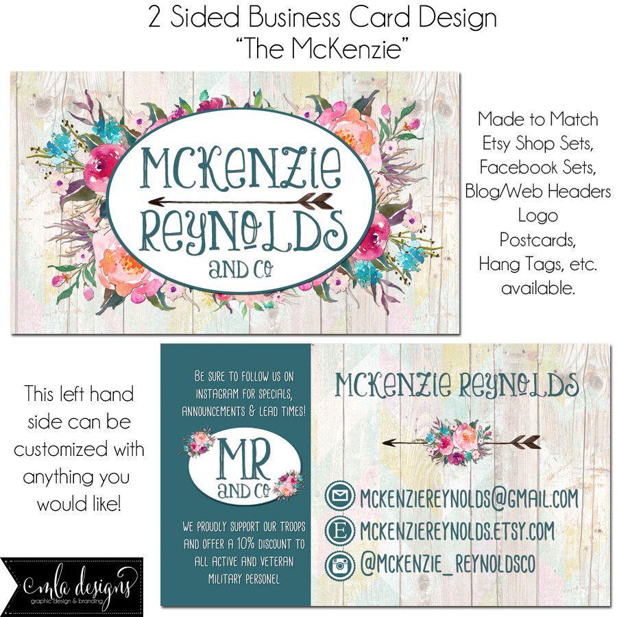 Floral Business Cards, Marketing Card, Business Card Design 2 ...