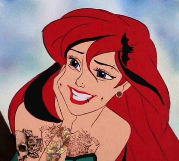 Elle pourrait avoir un look rock et glam - 15 choses que ferait une Princesse Disney si elle était confrontée à la vie, la vraie !