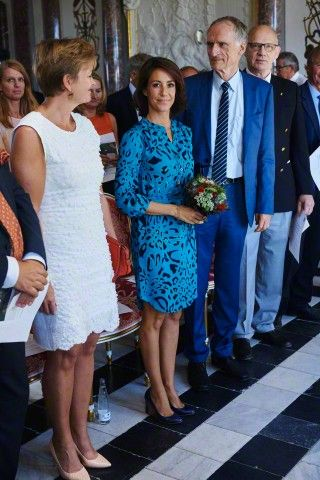 (L-R) Eva Kjer Hansen, Princess Marie and Bertel Haarder attends the Danish National Commission for UNESCO's World Heritage List at Eremitageslottet (The Hermitage Hunting Lodge) North of Copenhagen, August 23 2015.