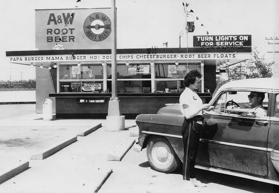 A & W is still around...if you're lucky enough.  But it's not the same.  Like the drive up in Red Oak or the really cool A & W that was in Clarinda...A papa burger and a frosty mug was awesome!