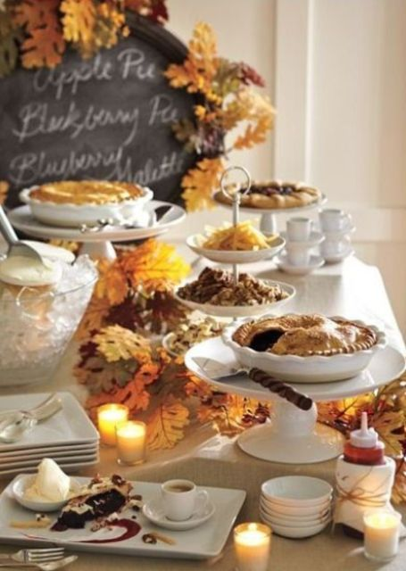 Autumn Celebration ~ Dessert Buffet Table ~ Look Closely, There Is Much To  Learn Here From This Skilled Set Up. Well, Here Are Some Tips And  Suggestions On ...