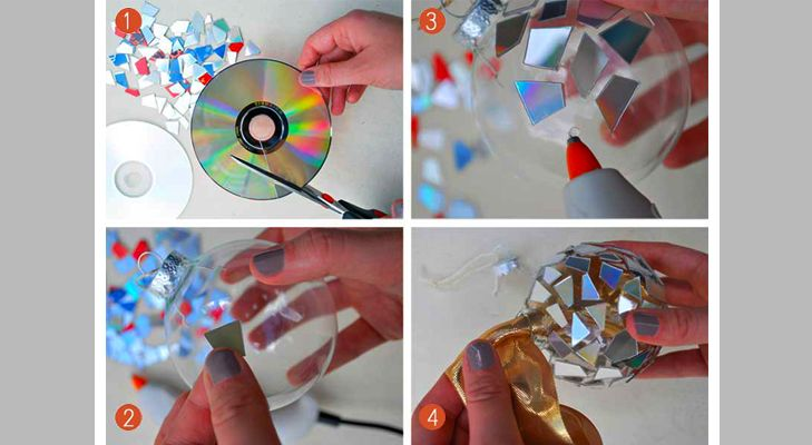 Just the idea of using old CDs is wonderful and can be used in so many different projects!