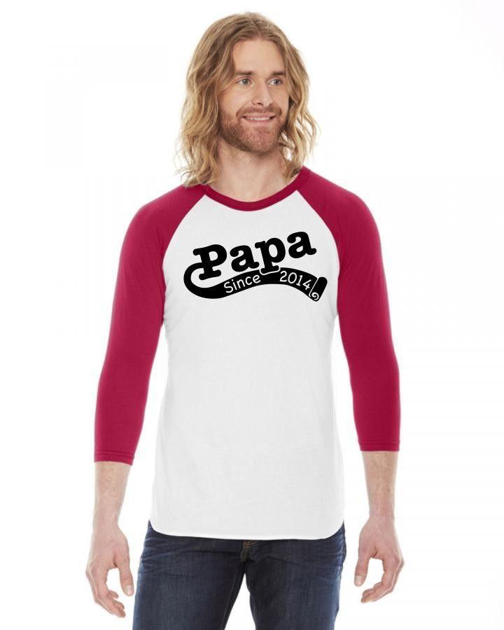 Papa Since 2014 3/4 Sleeve Shirt