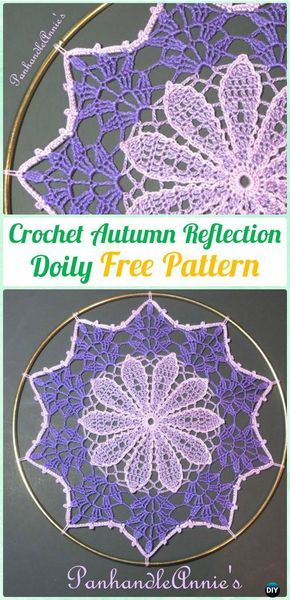 Crochet Autumn Reflection Doily Free Pattern Crochet Doily Free