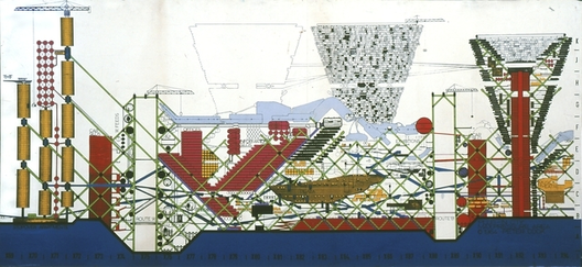 The Plug-In City, 1964 / Peter Cook, Archigram