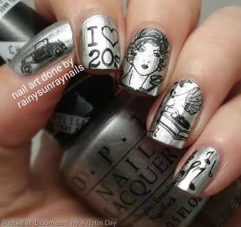 1920's nail art by Kristin Day