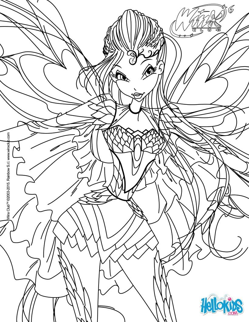 Winx club musa flyrix coloring pages coloriage - Bloom Transformation Bloomix Coloring Page