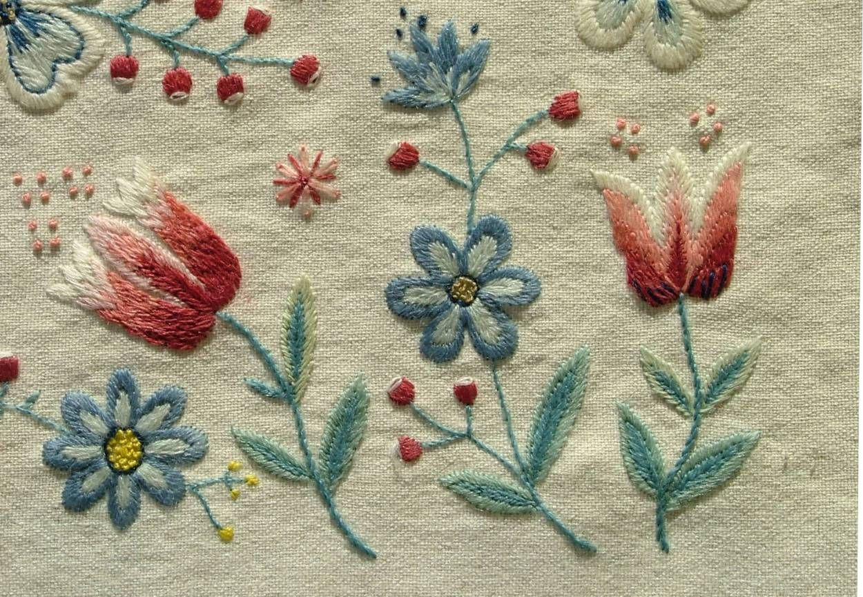 Yllebroderier Hos Moa Swedish Embroidery Embroidery And Needlework