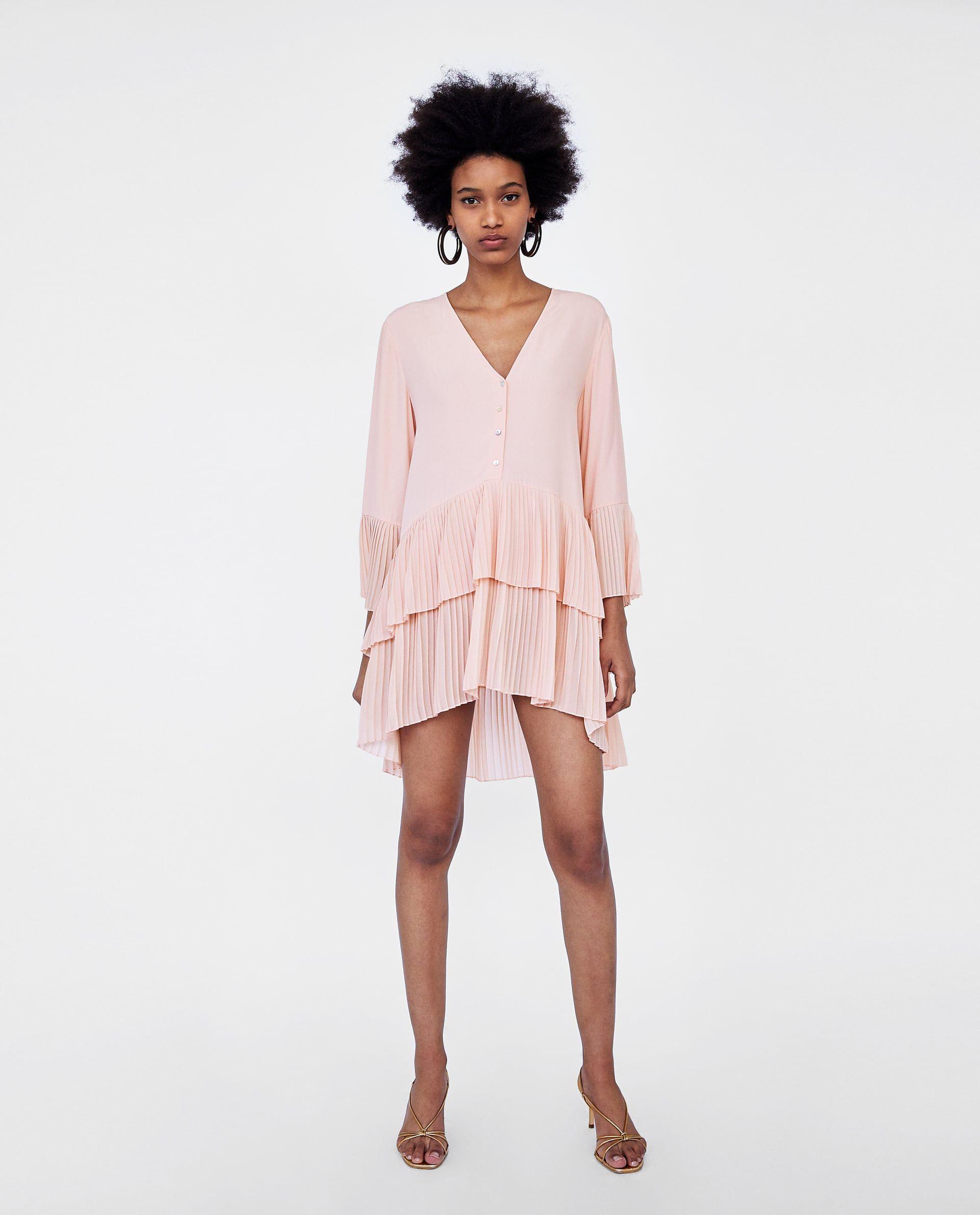 Vestido corto combinado zara