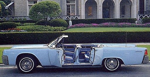 1961 lincoln continental 4 door convertible