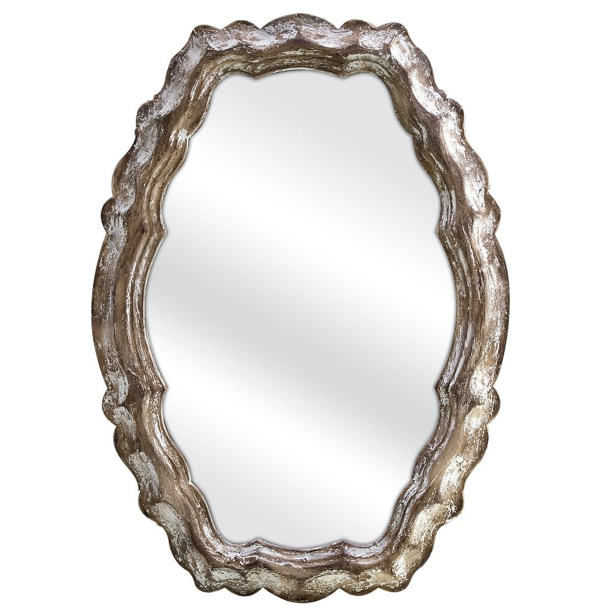 Vintage Wood Scallop Mirror | For the Home | Pinterest