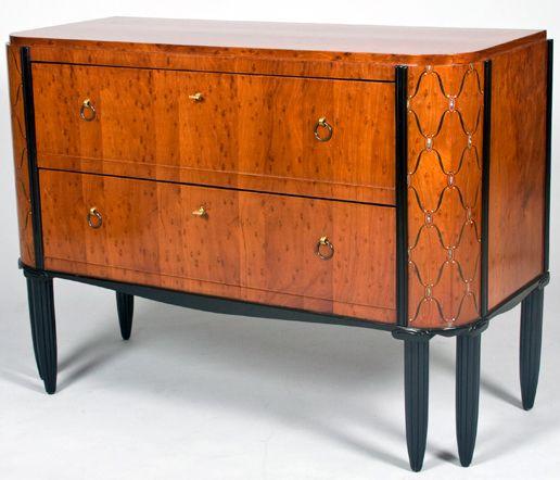 Art Deco Maurice Dufrene Commode Acajou Marqueterie De Bois Exotiques Bois Ebenise Et Nacre 1924 Meuble De Style Art Deco Mobilier Design